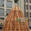 Skelett der neuen Turmspitze als Rekonstruktion nach historischem Vorbild
